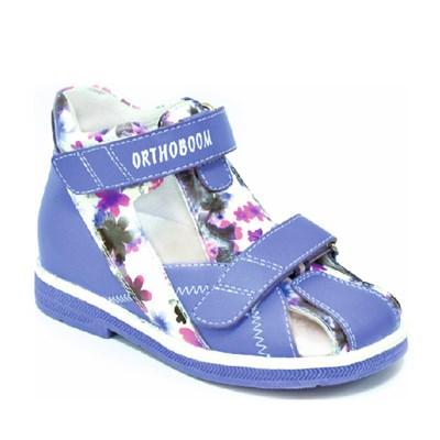 Детская ортопедическая профилактическая обувь Orthoboom 47057-01 (фиолетовый с белым рисунком) - фото 6090