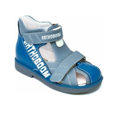 Детская ортопедическая профилактическая обувь Orthoboom 47057-03 (синий со светло-серым) - фото 6092