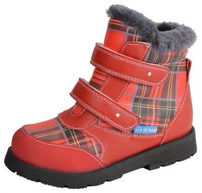 Детские зимние ортопедические ботинки ORTMANN Bela (красный) - фото 6376