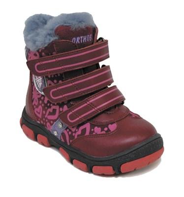 Детская зимняя ортопедическая обувь Orthoboom 63055-01 (красный) - фото 6391