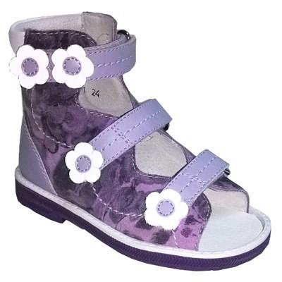Orthoboom 71497-1 (сиреневый) - Детская ортопедическая обувь с высоким берцем - фото 7240