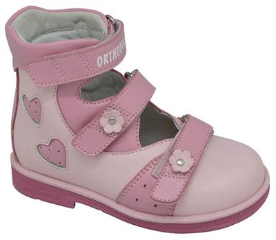 Детская ортопедическая обувь с высоким берцем Orthoboom 81597-32 (розовый) - фото 7290