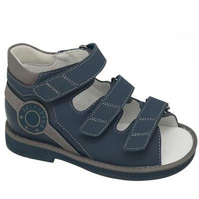 Детская ортопедическая профилактическая обувь Orthoboom 43397-5 (темно-синий-серый) - фото 7293
