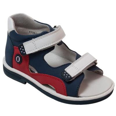 Детская ортопедическая профилактическая обувь Orthoboom 47387-13 (бело-синий-красный) - фото 7294