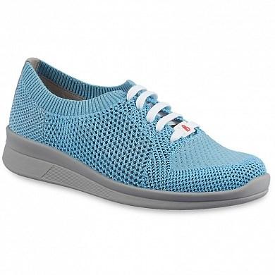 Ортопедическая обувь Berkemann (Германия, Ручная работа) модель Allegra (серо-голубой) - фото 7434