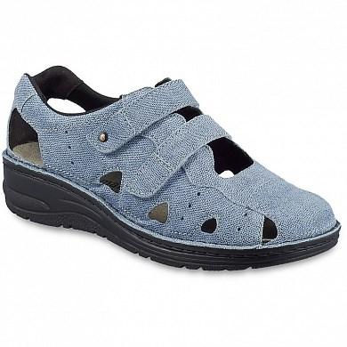 Ортопедическая обувь Berkemann (Германия, Ручная работа) модель Larena (голубой джинс) - фото 7440