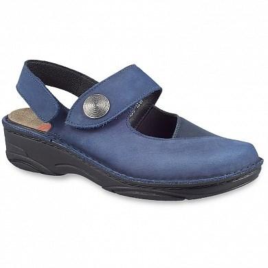 Ортопедическая обувь Berkemann (Германия, Ручная работа) модель Francesca (синий) - фото 7465