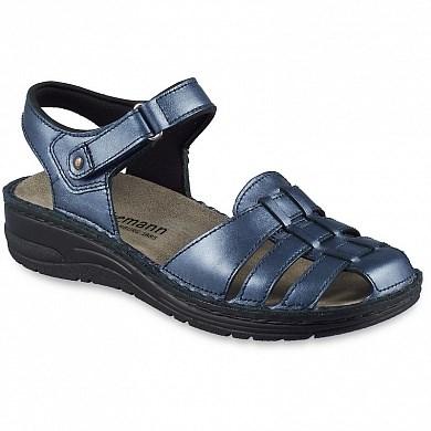 Ортопедическая обувь Berkemann (Германия, Ручная работа) модель Lorina (синий перламутр) - фото 7648
