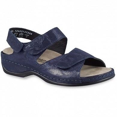 Ортопедическая обувь Berkemann (Германия, Ручная работа) модель Dore (синий/соты/блестки) - фото 7767