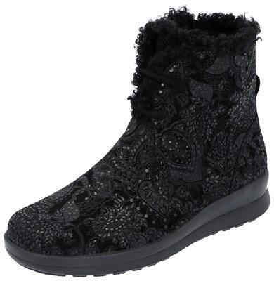 Зимняя ортопедическая обувь Berkemann Romira (черный/структура) - фото 9479