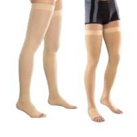 Компрессионные чулки (3 класс, открытый носок, резинка силикон) VENOTEKS 3C213