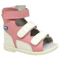 Детские ортопедические сандалии с высоким берцем ORTMANN Etna (розовый)