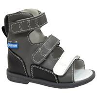 Детские ортопедические сандалии с высоким берцем ORTMANN Etna (серый/черный)