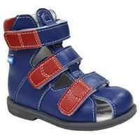 Детские ортопедические сандалии с высоким берцем ORTMANN Dali (красный/синий)