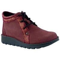 Женские ортопедические ботинки Berkemann X-PRO-ALLROUND-TOEFFLER (бордовый с принтом)