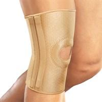 Бандаж на коленный сустав с фиксирующей подушкой и отверстием со спиральными ребрами жесткости Orlett RKN-103(M)