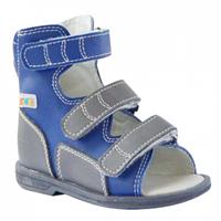 Детские ортопедические сандалии ORTMANN Etna (темно-синий) с высоким берцем