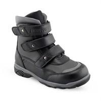 Зимняя ортопедическая обувь для детей - Ортобум 83055-03 (черный с серым)