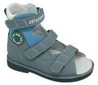 Orthoboom 71597-33 (серо-голубой) - Детская ортопедическая обувь с высоким берцем