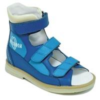 Orthoboom 71057-04 (синий с голубым) - Детская ортопедическая обувь с высоким берцем