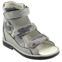 Orthoboom 71057-04 (серый) - Детская ортопедическая обувь с высоким берцем