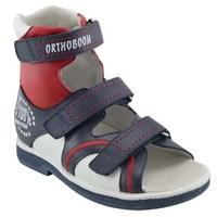 Orthoboom 71057-06 (синий с красным с белым) - Детская ортопедическая обувь с высоким берцем