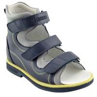 Orthoboom 71057-09 (темно-синий-серый) - Детская ортопедическая обувь с высоким берцем