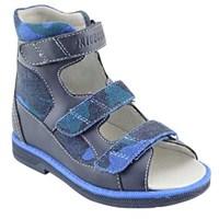 Orthoboom 71057-04 (темно-синий) - Детская ортопедическая обувь с высоким берцем
