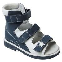 Orthoboom 71397-7 (темно-синий-белый) - Детская ортопедическая обувь с высоким берцем
