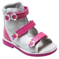 Orthoboom 71497-2 (бело-розовый) - Детская ортопедическая обувь с высоким берцем