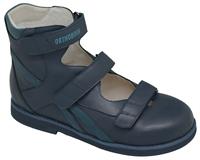 Детская ортопедическая обувь с высоким берцем Orthoboom 81597-32 (темно-синий)