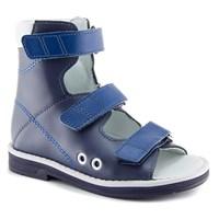 Детская ортопедическая обувь с высоким берцем Ортобум 71057-09 (темно-синий)