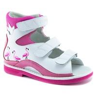 Детская ортопедическая обувь с высоким берцем Ортобум 71057-01 (розовый фламинго)