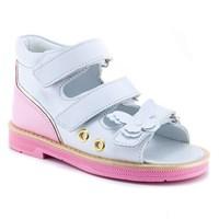 Детская ортопедическая профилактическая обувь Ортобум  27057-01 (бело-розовый с золотом)
