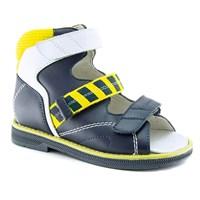 Детская ортопедическая профилактическая обувь Ортобум 25057-02 (синий с желтым принтом)