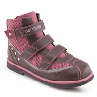 Детская ортопедическая обувь Ортобум 81194-37 (бордовый с розовым)