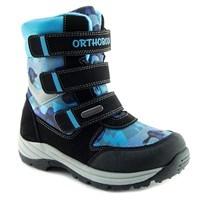 Детская зимняя ортопедическая обувь Orthoboom 57056-06 (голубой милитари)