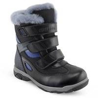 Детская зимняя ортопедическая обувь Orthoboom 63395-43 (черный с синим)