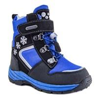 Зимняя ортопедическая обувь для детей - Ортобум 63495-22 (черный с лазурным)