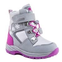 Зимняя ортопедическая обувь для детей - Ортобум 63495-22 (серо-жемчужный с розовым)