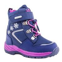 Зимняя ортопедическая обувь для детей - Ортобум 63495-22 (темно-фиолетовый с розовым)