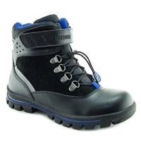 Зимняя ортопедическая обувь для детей - Ортобум 87054-01 (глубокий черный с лазурным)