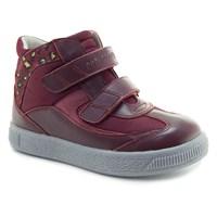 Осенняя ортопедическая обувь для детей - Ортобум 87054-02 (темно-алый с принтом)